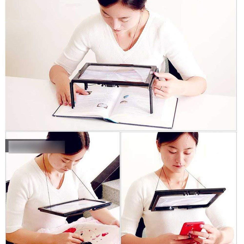 AI LI WEI Magnifier Desktop Illumination Lupe mit LED-Licht 3X 3X 3X HD-Objektiv zum Lesen von Büchern, Schmuckkennzeichnung Uhr DIY Crafts Gravur und Reparatur Schwarz 205  273  98mm Lupe Lupe 62d5ed