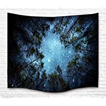 Forest Starry Tapestry Wall Tapestry Wall Hanging Galaxy Tapestry Hippie Milky Way Tapestry Sky Tapestry Tree Tapestry Night Sky Tapestry Mandala Bohemian Tapestry for  Bedroom Dorm Decor