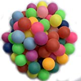 Cat Balls 50 Pack Assorted Colored Tennis Balls Multi Color Plastic Balls Fun Beer Ping Pong Balls Bulk for Beer Pong Balls Party Decoration Arts and Craft Jedulin 40MM Ping Pong Balls