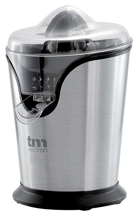 Tm Electron TMPEX008 Exprimidor eléctrico de cítricos en acero inoxidable, 100 W, Gris