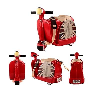 Ancaixin Equipaje Infantil Maleta de Viaje con ruedas para niños coche infantil 45*20*40CM Color Rojo: Amazon.es: Juguetes y juegos