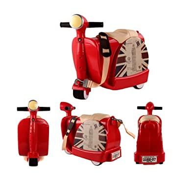 Ancaixin Equipaje Infantil Maleta de Viaje con ruedas para niños coche infantil 45*20*