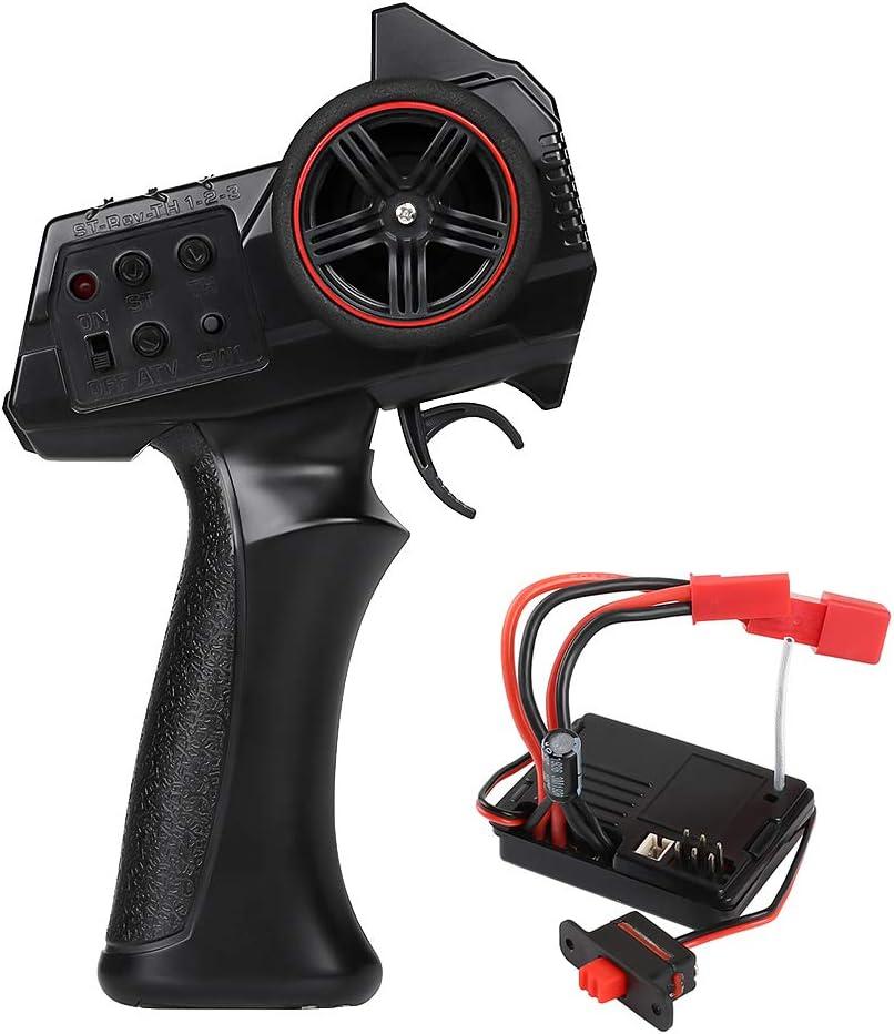 INJORA RC Transmisor 2.4GHz 3 Canales RC Control Radiocontrol Receptor Transmisor con Receiver para 1/14 1/16 1/18 1/24 RC Car Crawler SCX24 MN WPL Model