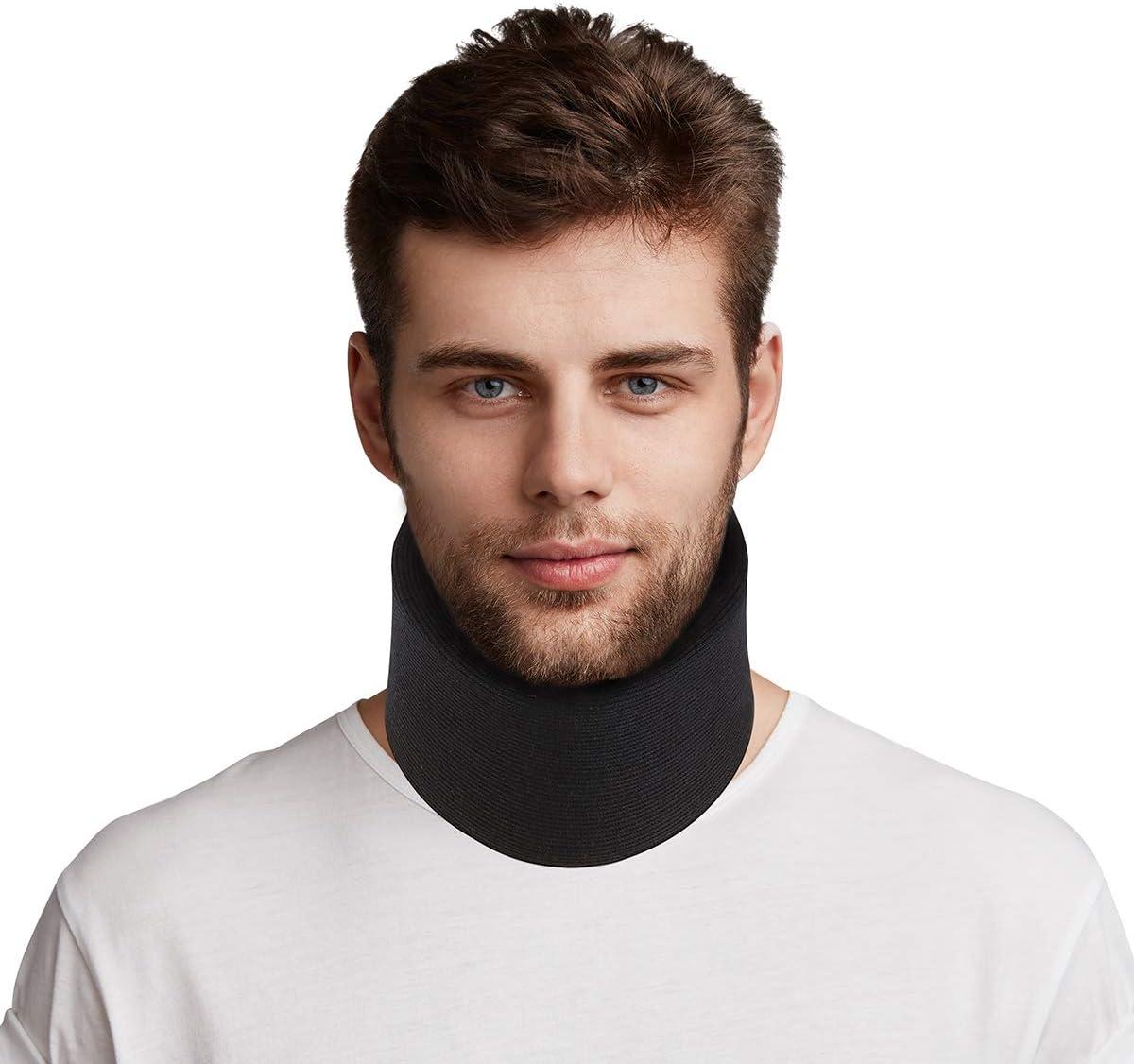 Healefty - Collarín cervical de talla única, ajustable, supersuave, para dormir, alivia el dolor y la presión en la columna vertebral, para hombres, mujeres y ancianos