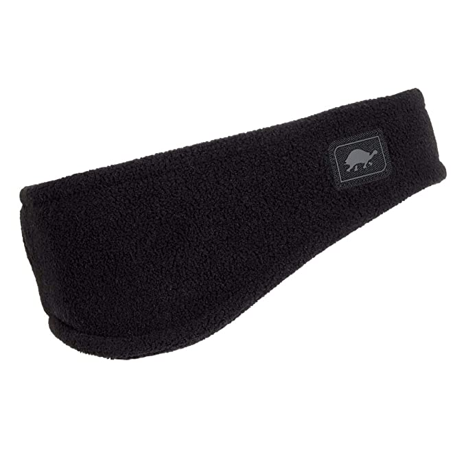 Turtle Fur Double-Layer Bang Band, Chelonia 150 Fleece Headband,Black,One Size best winter headbands