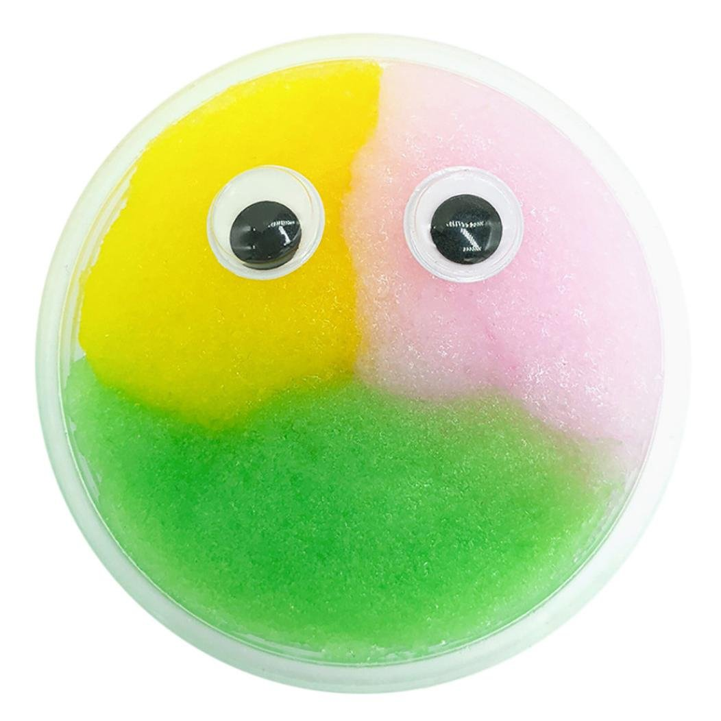 Gbell Fluffy Eye Mixing Cloud Slime, Coloring Squishy Putty Scented Stress Clay Toy Gift for Kids,Adults (I)