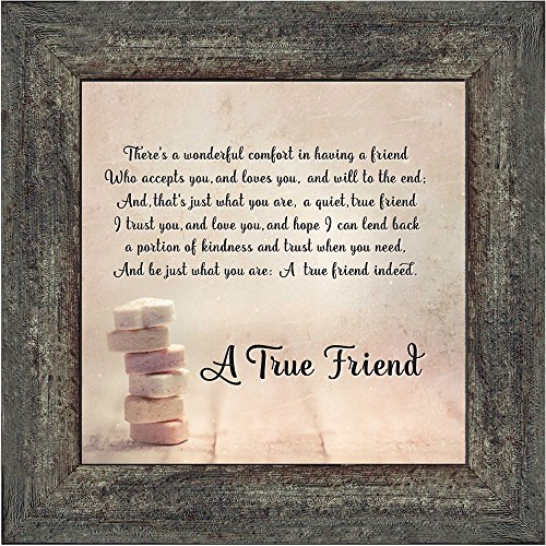 Elegantly Yours A True Friend, Picture Frame for Your Forever Best Friend, 10x10 8607BW (True Friendship Poems Best Friends)