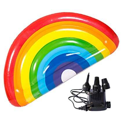 Colchonetas y juguetes hinchables Cama Inflable Arco Iris De ...