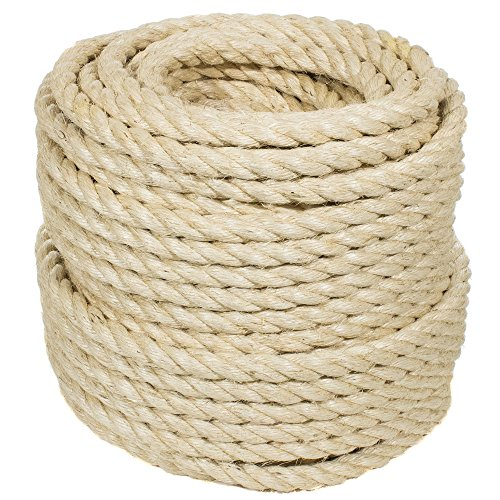 - Golberg Twisted Sisal Rope (1 Inch x 10 Feet)