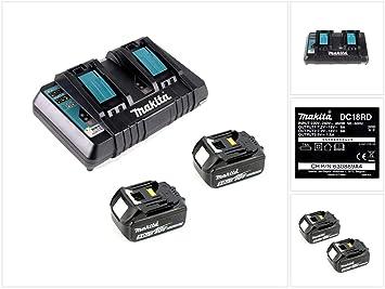 Makita 18 V Power Source Kit con 2 baterías X 5 Ah y ...