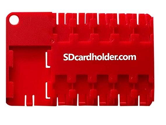 Amazon.com: Tarjeta micro SD holder-red: SDcardholder com
