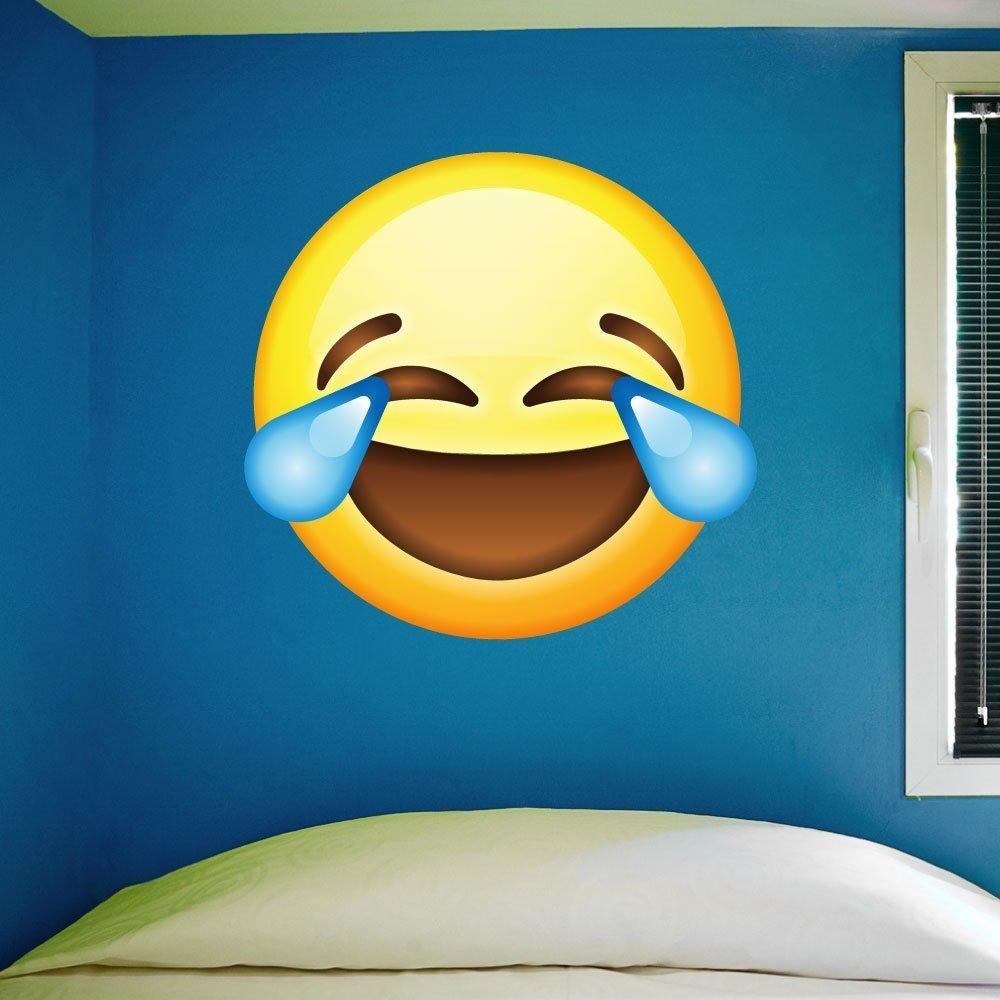 Amazon com: Large Emoji Wall Decal - 28