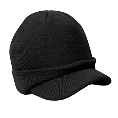 Men Warm Baggy Crochet Visor Beanie Ski Cap Baggy Oversized Knit Skull Hat 73613981d3e0