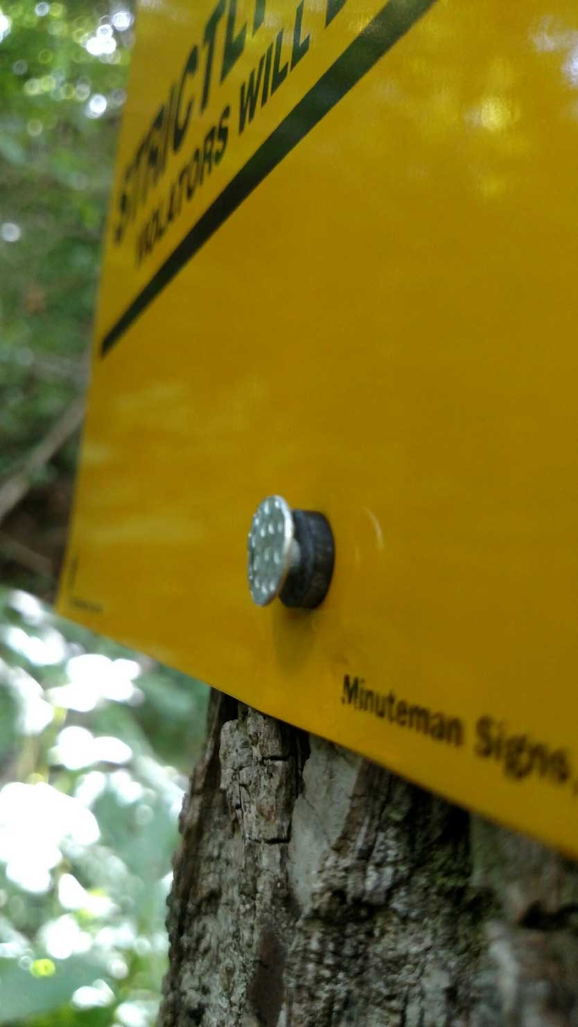 25 Count Aluminum Posted Private Property Signs with your custom information added (Yellow)