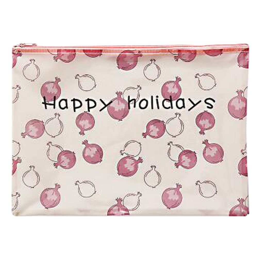 Cute File Bag Stationery Bag Pouch File Envelope for Office/School Supplies, Pomegranate A4