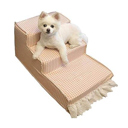 LXLA - Escaleras para Mascotas, 3 Pasos para Gatos/Perros, Ideal para Sofá