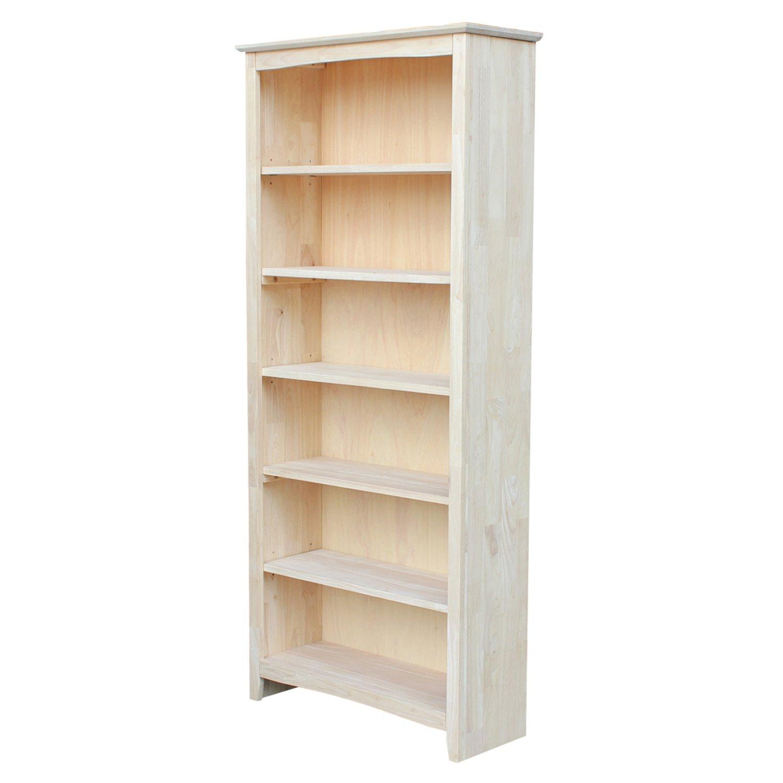 unfinished wood bookcases amazon com rh amazon com