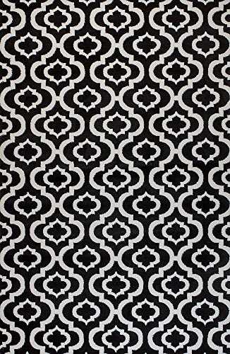 (Summit BL-H7W0-236O 25 New Black White Trellis Lattice Modern Abstract Rug Many Aprx Sizes Available , 2' X7' ACTUAL 22'' X 83'' HALLWAY)