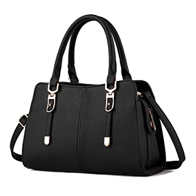 bc88260850 Lovely Crossbody Bags Tote Satchel Purse for Girls Feminine Rubysports Black