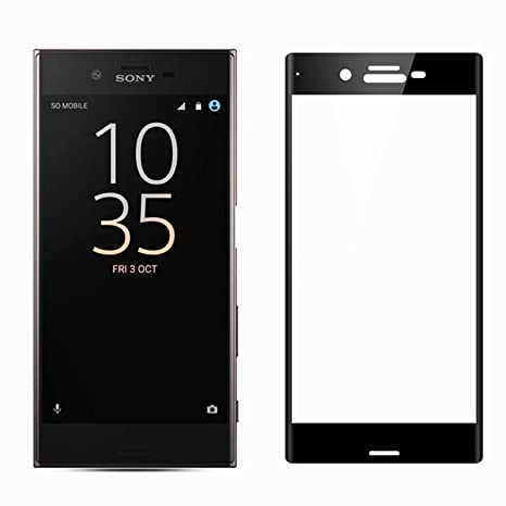 Mobile Screen Tempered Glass Black 3D Curved Edge Tempered Glass for Sony  Xperia XZ1 (Black)