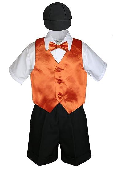 12-18 months 5pc Baby Toddlers Boys Turquoise Blue Vest Black Shorts Suits Cap S-4T L: