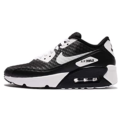17d816a4f7 Amazon.com | NIKE Air Max 90 Ultra 2.0 BR GS Girls Running-Shoes  881925-001_4Y - Black/White | Athletic