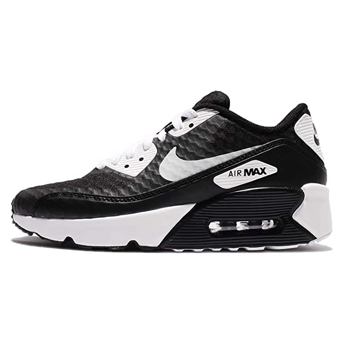 49bb451275 Amazon.com   NIKE Air Max 90 Ultra 2.0 BR GS Girls Running-Shoes  881925-001_4Y - Black/White   Athletic