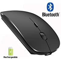 Bluetooth Mouse Rechargeable Wireless Mouse for Notebook,Bluetooth Wireless Mouse for Laptop Bluetooth Mouse for PC Black (Black)