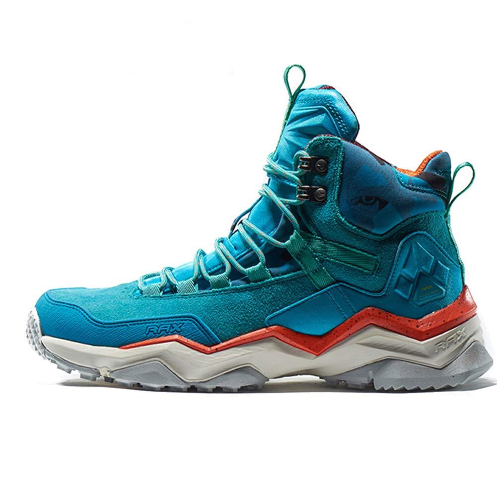 Calzado de Senderismo Impermeable Alto Desgaste Desgaste Amortiguador zapatos al Aire Libre Escalada Viajes de montaña zapatos para Caminar antideslizantes-azul-38