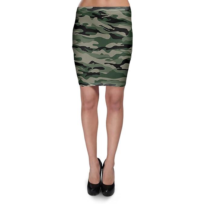 Amazon.com: Militar Camuflaje Bodycon falda XS-3 X L Stretch ...
