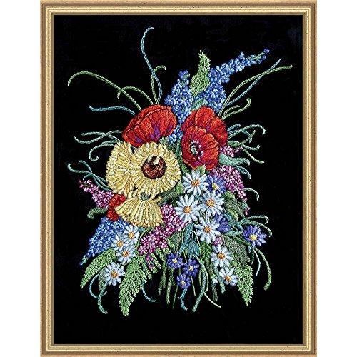 Floral Needlework Kit - BARRANI DESIGN STUDIOS Floral Cadenza Crewel Kit