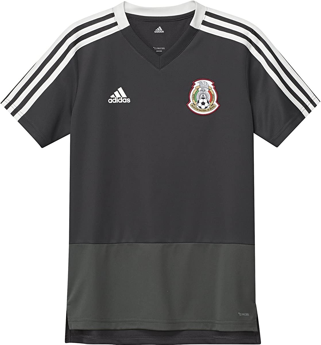 adidas International Soccer Mexico Mens Jersey Green//Red//White Medium