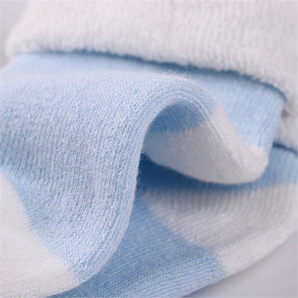 DoMii 5 Pack Baby Boy Girl Thick Socks Toddler Cotton Cozy Socks Winter Cuff Ankle Socks