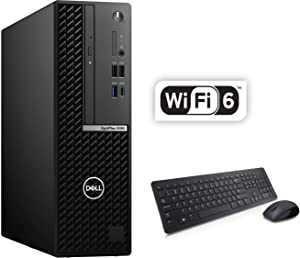 Dell OptiPlex 5080 Small Form Factor Business Desktop, Intel Core i7-10700 8 Cores Processor up to 4.8GHz, 16GB DDR4 RAM, 512GB PCIe SSD, DVD, Wi-Fi 6, Windows 10 Pro, Wireless Keyboard & Mouse