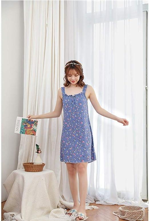Tirantes de Seda de algodón para Mujer de Verano camisón Suelto ...