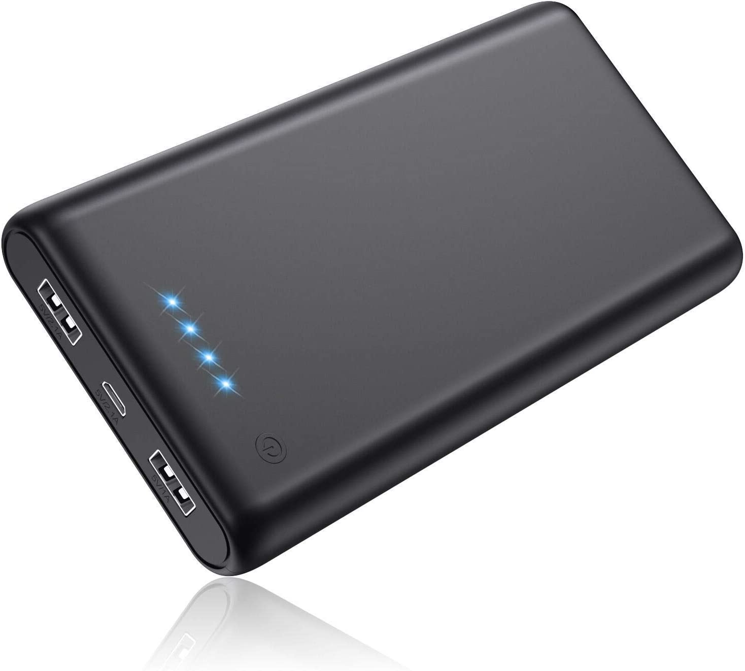 Portable Charger 25800mAh Power Bank Super High Capacity Lighter External Battery Pack Dual Output Ports Recharging Phone Charger for Android Phone, Smart Phone, Tablet etc