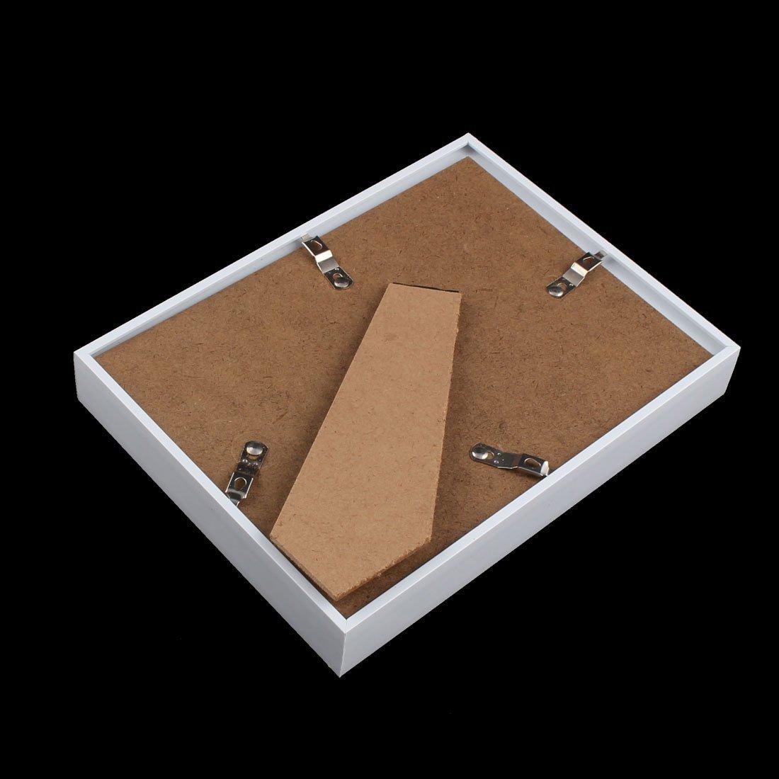 Amazon.com - eDealMax Hollow Familia Foto joyería del clavo de Shell Marco de la pantalla de la caja 8 x 6 pulgadas blancos -