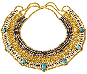 Cleopatra Egyptian Collar Necklace u2013 Beautiful Costume Jewelry for Halloween Parties and Role Plays u2013 Realistic Egyptian Design u2013 Best Cleopatra Accessories ...  sc 1 st  Amazon.com & Amazon.com: Cleopatra Egyptian Collar Necklace u2013 Beautiful Costume ...