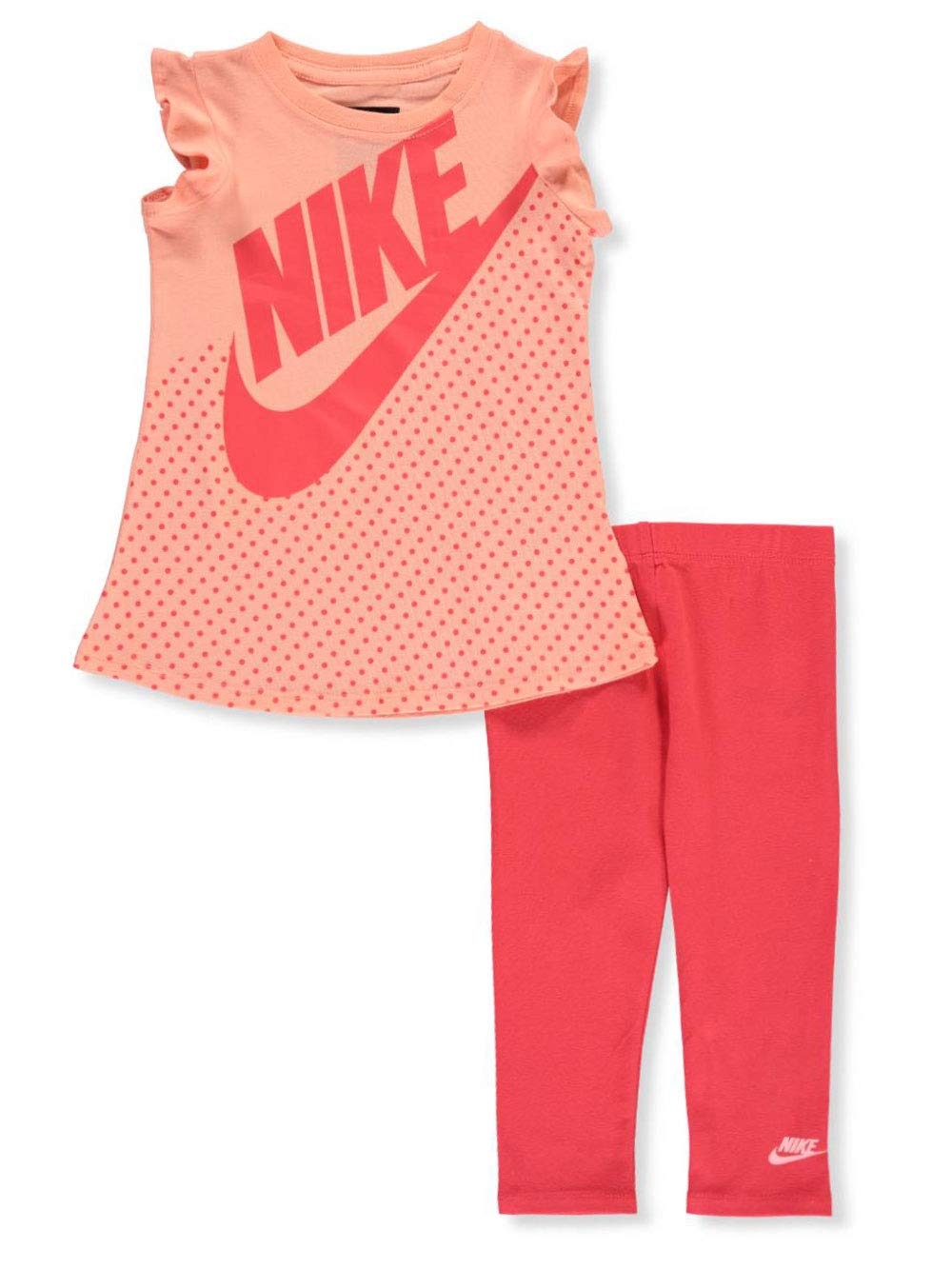 Nike Baby Girls' 2-Piece Leggings Set Outfit - Ember Glow, 12 Months by Nike