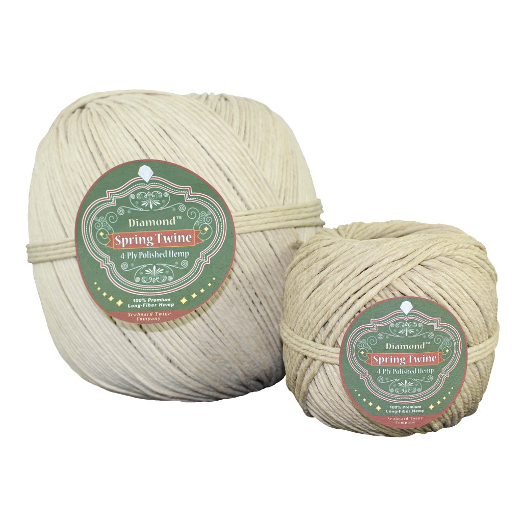 Spring Twine (4 ply - 3mm) - SGT KNOTS - Long Fiber Polished Hemp Twine - All-Purpose Crafting Twine - for Gardening, Crafting, Backpacking, DIY Projects, More (5lb -1,350 feet) by SGT KNOTS