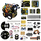 Keyestudio UNO R3 Bluetooth L298N Motor Drive Smart Small Turtle Robot Car Kit for Arduino(includes a tutorial book)