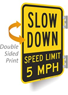 Amazon.com: Monifith Slow Down Speed Limit 5 MPH Señal para ...