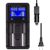 Universal Battery Charger EASTSHINE S2 LCD Display Speedy Smart Charger for Rechargeable Batteries Ni-MH Ni-Cd AA AAA Li…