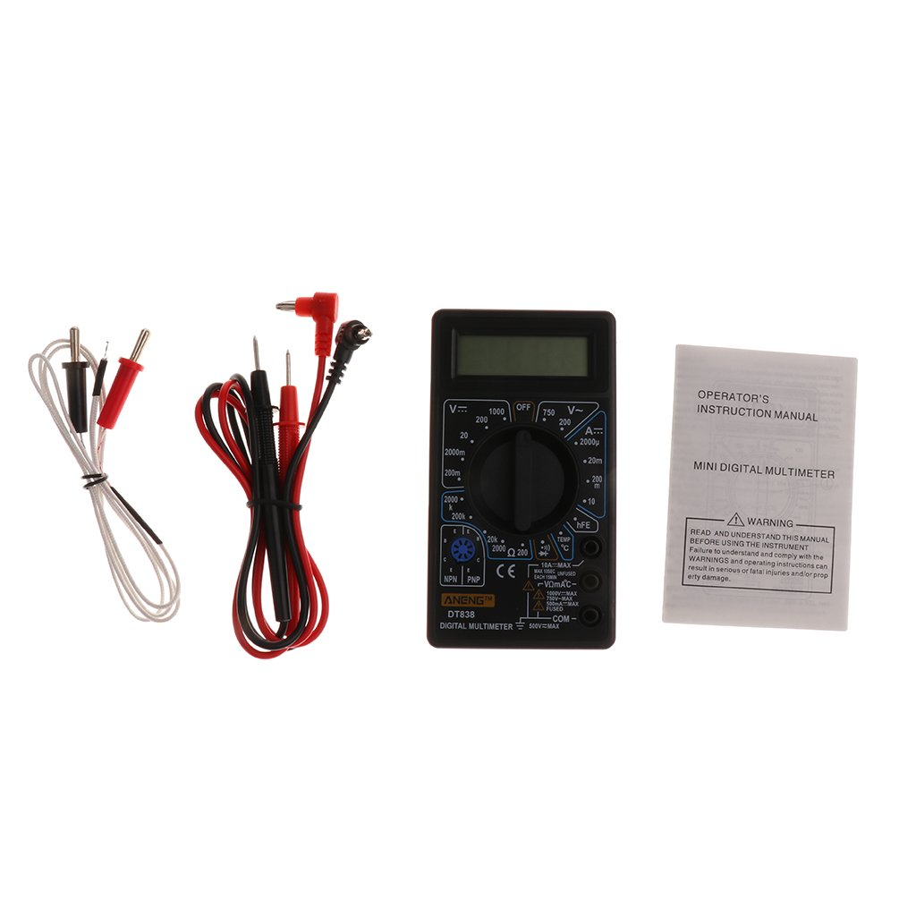 Generic E 51002415 Imported Digital Lcd Multimeter Ac Dc Voltmeter Ammeter Ohm Circuit Checker Testers Black Industrial Scientific