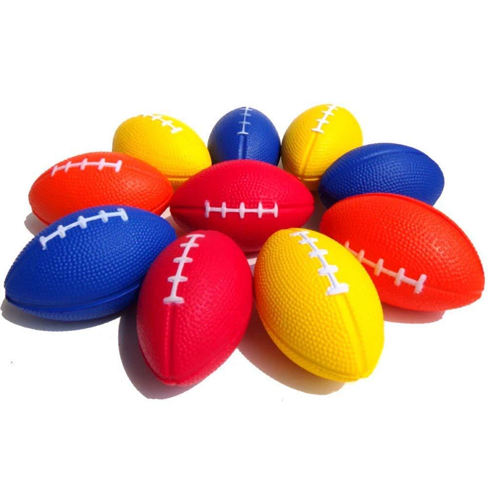 Mini Rugby Balles Pendentif de sport Porte-clé s balle pour Kids Party Favors é cole Prix Carnaval couleur alé atoire 5pcs mxdmai