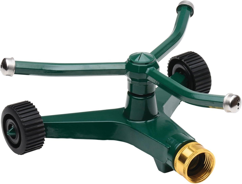 "Sprinkler Lawn 3 Arm Brass Rotating Garden Sprinkler on Spike 12MM 1//2/""  Hose"