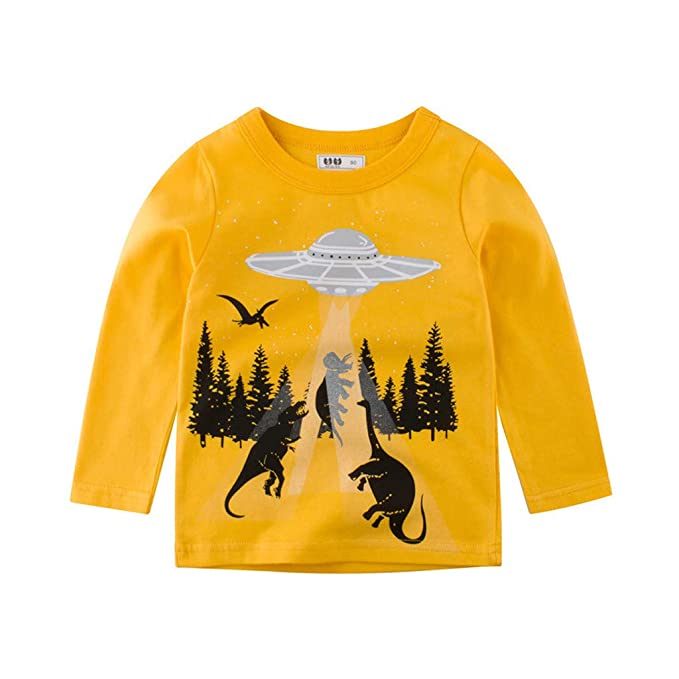 Mitlfuny Niñas Niño Ropa Deportiva Bebé Camisetas de Manga Larga Cocodrilo Dinosaurio Dibujos Animados Sudaderas de