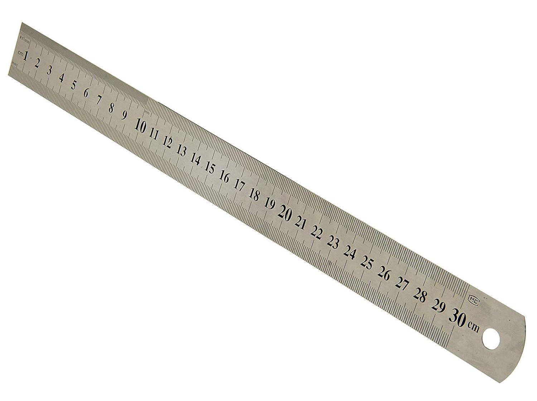 MS-Warenvertrieb Stahllineal 30cm Stahlma/ßstab 300mm Metalllineal Stahl Ma/ßstab Lineal Me/ßstab