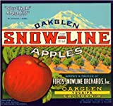 Yucaipa California Oak Glen - Sno-Line Apple Fruit Crate Label Art Print