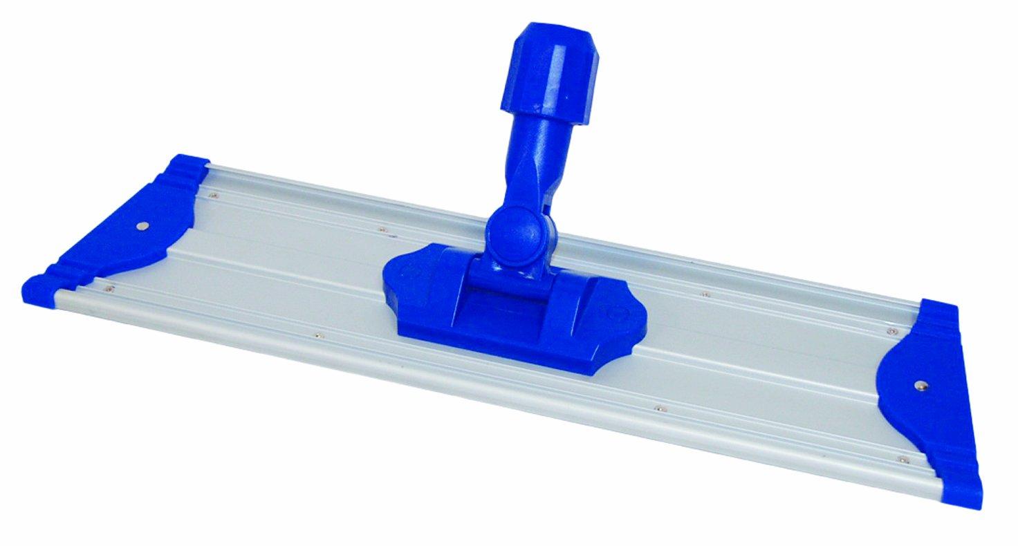 Wilen C717018, Pro II Lightweight Flat Mop Frame, 18'' Length x 4-3/4'' Width, Blue/Silver (Case of 10)